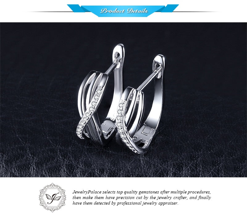 9c084e4a0 Jewelrypalace Infinity Love Earrings 925 Sterling Silver Bridal Jewelry  Birthday Present For Girlfriend Fine Fashion Gift