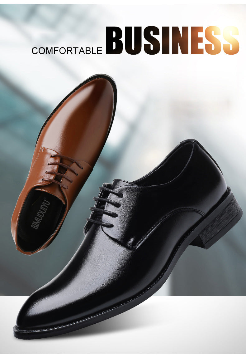 BIMUDUIYU luxury Brand Classic Man Pointed Toe Dress Shoes Mens Patent  Leather Black Wedding Shoes Oxford 69debe05aa79