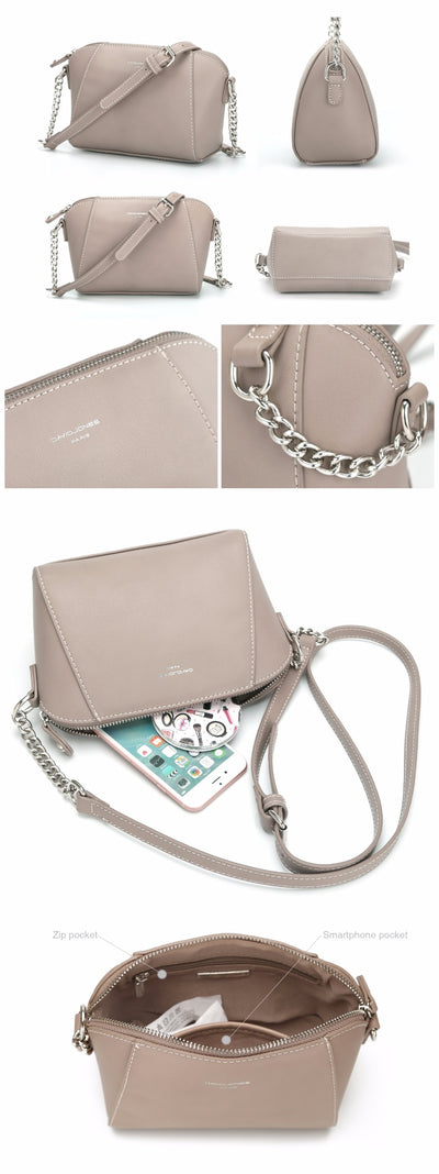 DAVIDJONES women messenger bags pu leather female crossbody bags small lady chain shoulder bag girl brand handbag drop shipping