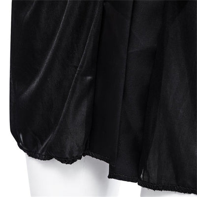 2727440649f MUPLY New Hot Sexy Lingerie Plus Size Satin Lace Black Kimono Intimate  Sleepwear Robe Sexy Night