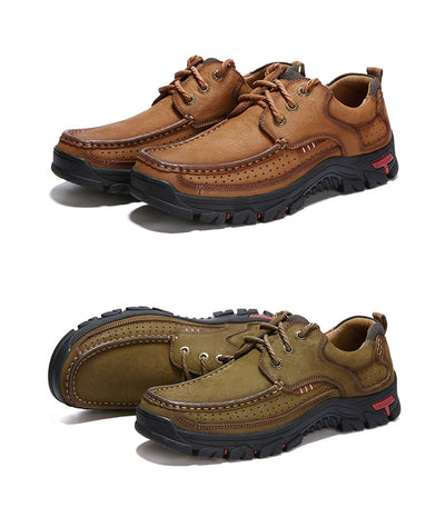 3d9628eaff5 MVVT 100% Genuine Leather Shoes Men Cow Leather Casual Shoes Male Outdoor  High Quality Men