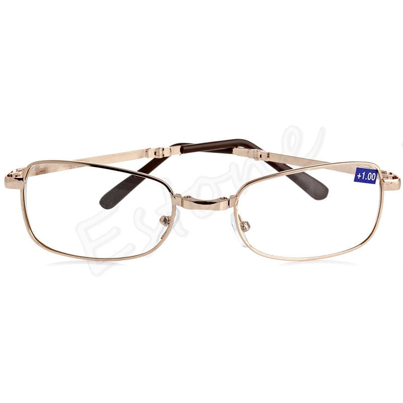 bd151c43a66eb A40 New Unisex women men 1PC Folding Metal Reading Glasses +1.00 1.50 2.00  2.50 3.00