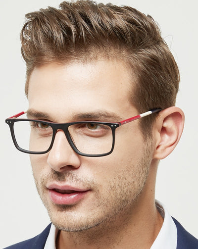 OCCI CHIARI Glasses Frame Eyeglasses Frames Men Gafas Acetate Male Fashionable Spectacle Frames Optical Glasses Black W-COSCO
