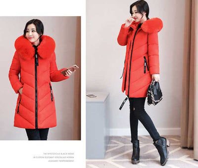 4a10698f2d9 Thicker Big Fur collar winter jacket women 2019 New Ukraine 6XL Plus size  womens down jackets