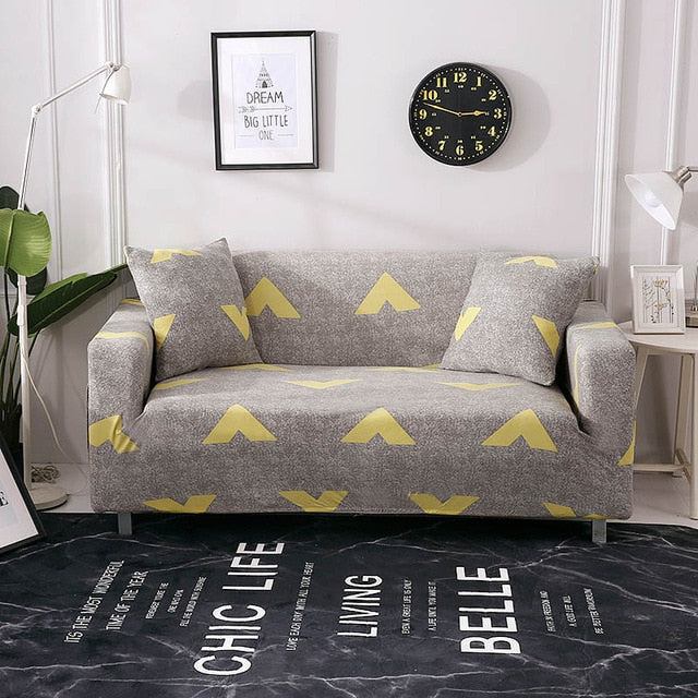 Pleasing Floral Leaves Printing Sofa Cover Tight Wrap All Inclusive Couch Cover For Living Room Anti Dirty Furniture Cover 1 2 3 4 Seater Uwap Interior Chair Design Uwaporg