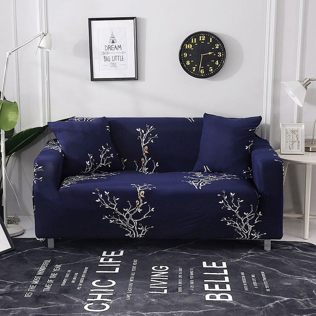 Superb Floral Leaves Printing Sofa Cover Tight Wrap All Inclusive Couch Cover For Living Room Anti Dirty Furniture Cover 1 2 3 4 Seater Uwap Interior Chair Design Uwaporg