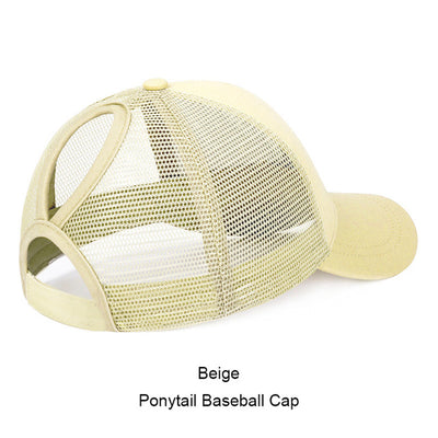 81325cd9ea6 URDIAMOND 2019 Ponytail Baseball Cap Women Messy Bun Snapback Summer Mesh  Hats Casual Sport Caps Drop