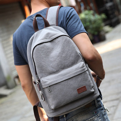 Muzee Canvas Men Backpack Large Capacity Backpack School Bags for Teenagers Laptop Backpack USB Charging Rucksack Male Mochila
