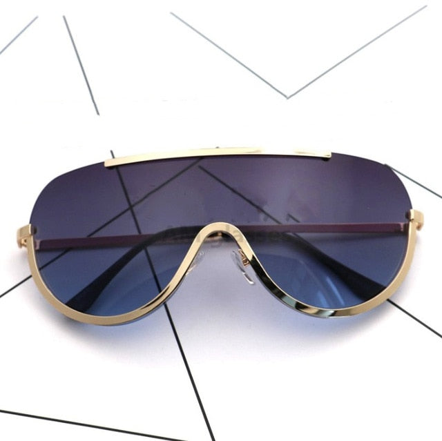 0df1927875f CCSPACE Rimless Gold Clear Sunglasses Women Brand Designer pilot Sunglasses  Oversized Frame Sexy Glasses Lunette Femme