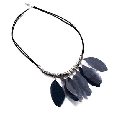 New style Tassel Peacock Feather Bohemian Long Necklace Shell Sweater Leather Chain Jewelry Exaggerated Design Drop shipping