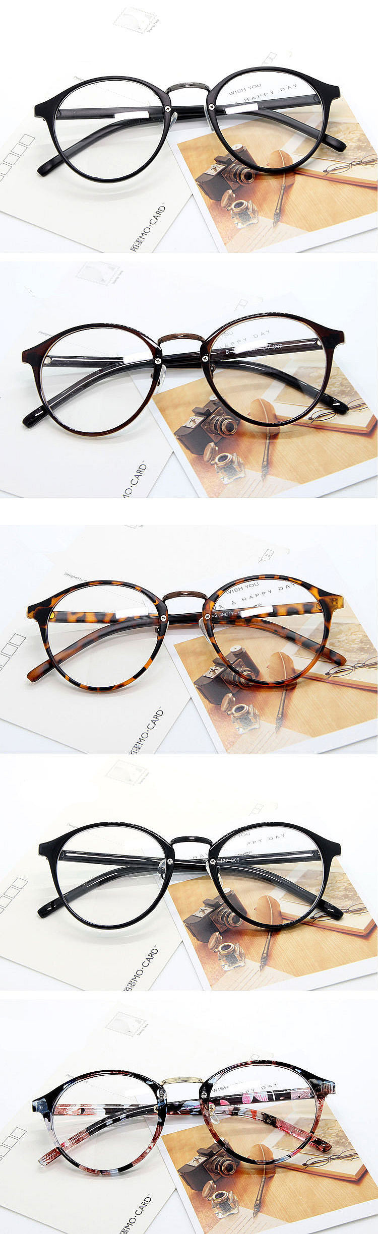 944dcc9c66 UVLAIK Fashion Optical Glasses Frame Glasses With Clear Glass Men Women  Brand Round Clear Transparent Women s