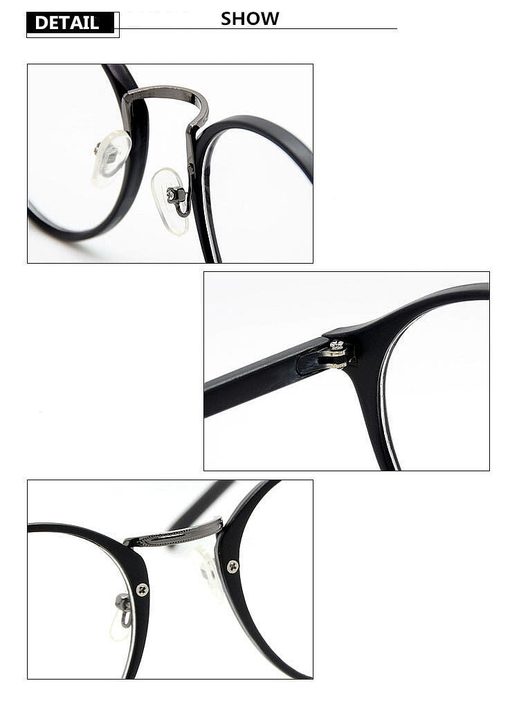55ab1b231a4 UVLAIK Fashion Optical Glasses Frame Glasses With Clear Glass Men Women  Brand Round Clear Transparent Women s