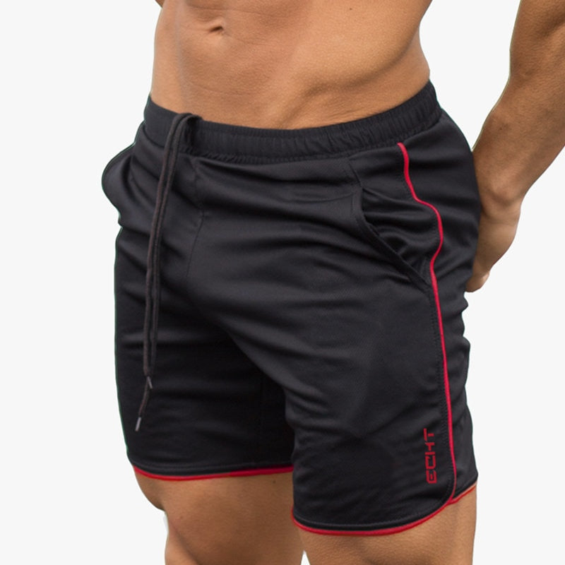 New Men Fitness Bodybuilding Shorts Man Summer Gyms Workout Male Breathable Mesh Quick Dry Sportswear Jogger Beach Short Pants Handsome Appearance Men's Clothing