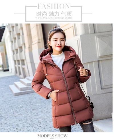 ab60f1eba9 KUYOMENS 2019 New Fashion Long Winter Jacket Women Slim Female Coat Women  Thicken Parka Cotton Clothing