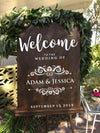 New Creative Wedding Sticker Personalised Name Wedding Welcome Sign Blackboard Decal Waterproof Vinyl Art Decor Custom Hot LC680