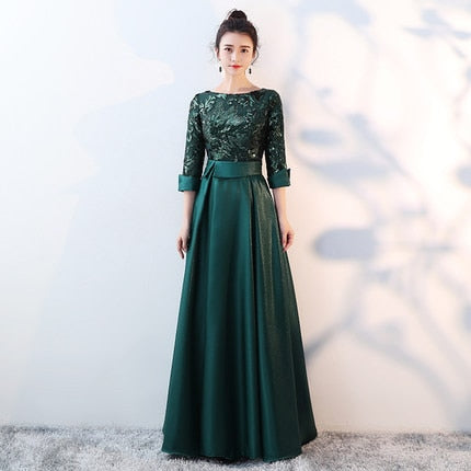 e9314d48b2f SSYFashion New Mother of The Bride Dress The Banquet Elegant Gold and Navy  Blue 3
