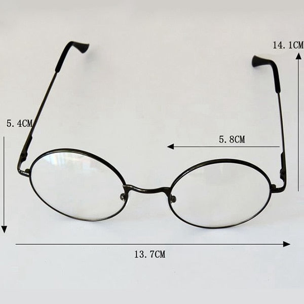 b97b2205852 2 Styles Fashion Unisex Metal Frame Eyeglasses Retro Round Circle Original  Clear Lens Men Women Eye