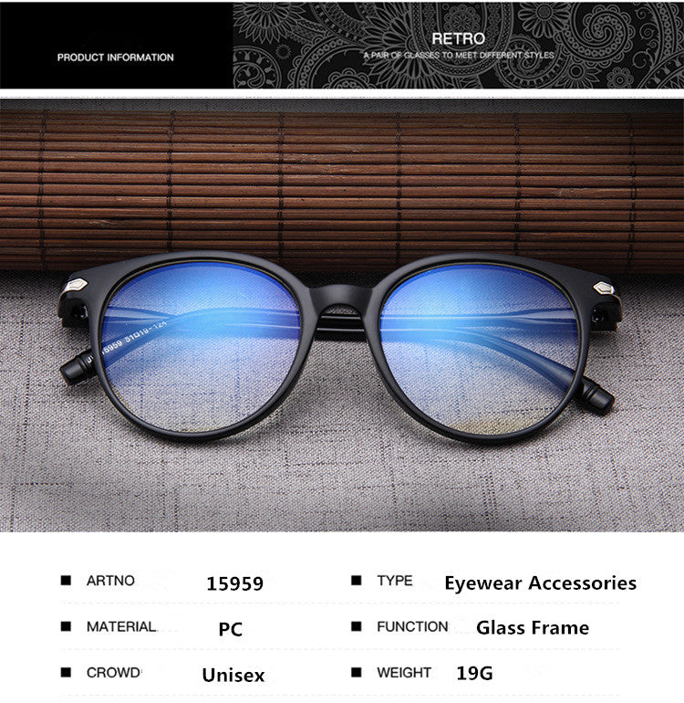b06f8243a7 Women Glasses Frame Men Anti Blue Light Eyeglasses Frame Vintage Round Clear  Lens Glasses Optical Spectacle