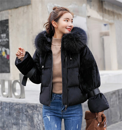 27c6a932820eb 2019 New Short Winter Jacket Women Thickening Warm Outerwear Parkas Female  Cotton Padded Loose Coats Hooded