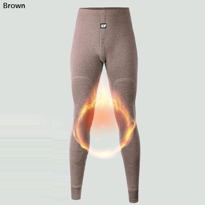 2019 New thermal underwear pants thick wear in very cold Winter underpants for Russian Canada and European men Protect the knee