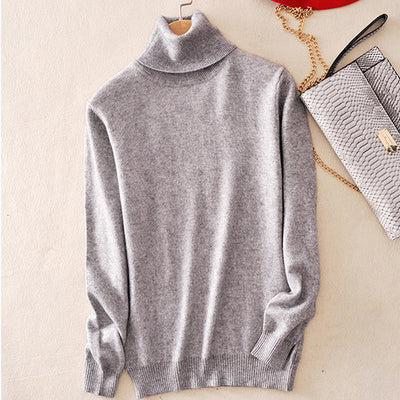 Cashmere Sweater Women Turtleneck Women's Plus Size Knitted Turtleneck Winter Cashmere Sweater For Women Warm Sweaters Female