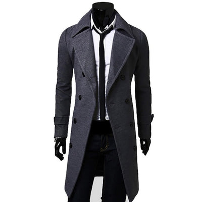 75ca40d8 New Arrivals Autumn Winter Trench Coat Men Brand Clothing Cool Mens Long  Coat Top Quality Cotton Male Overcoat 3XL