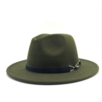 c96c14e08b57f New Women Men Wool Vintage Gangster Trilby Felt Fedora Hat With Wide Brim  Gentleman Elegant Lady
