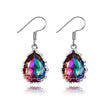 Rainbow Topaz Gemstone  Women's Drop Earrings Silver Earrings New Design 2018 Wedding Jewelry Daily Accessories