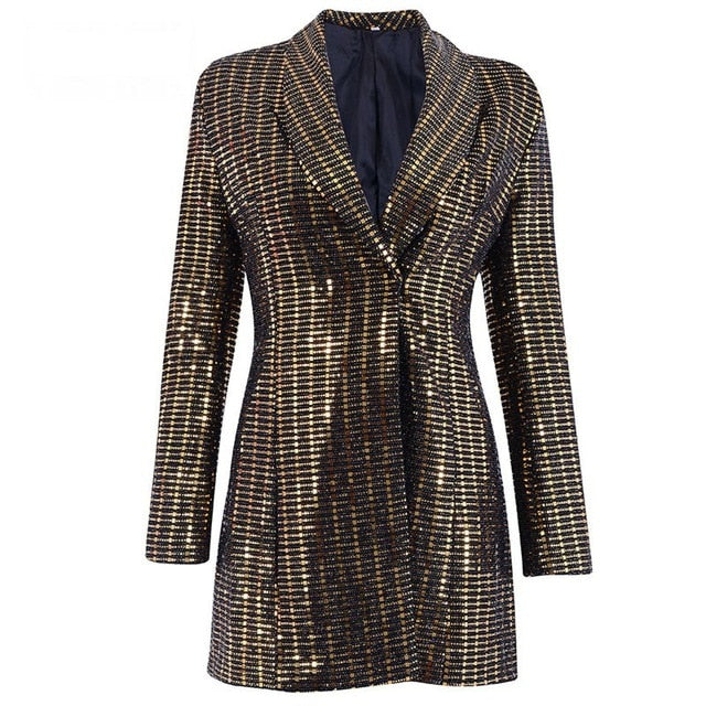 Able High Quality New Fashion 2018 Designer Blazer Womens Metal Lion Buttons Double Breasted Denim Blazer Jacket Outer Coat Suits & Sets