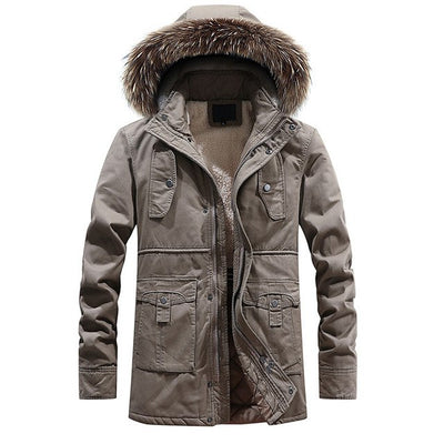 Mountainskin New Winter Men's Warm Parkas Thick Fleece Cotton Coat Long Male Jackets Hooded Coats Mens Brand Clothing SA604