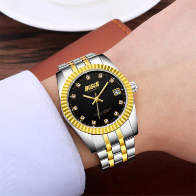 Men Mechanical Watch BOSCK Top Brand Luxury Automatic Wrist Watch Men Stainless Steel Waterproof Watches Clock Reloj Hombre 2018
