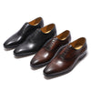 FELIX CHU Men Dress Shoes Leather Medallion Oxfords Mens Lace-Up Formal Shoes Genuine Leather Brown Black Business Men's Shoes