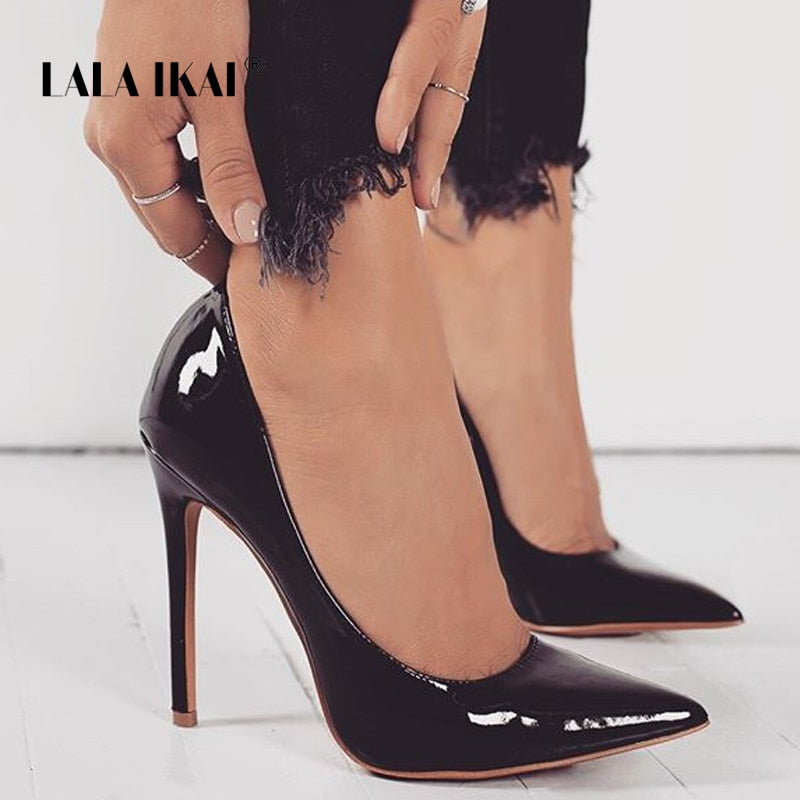 7c02c217a LALA IKAI Basic Woman Pumps High Heels Shallow Office Lady Fashion Concise  Thin Heels Sexy Women