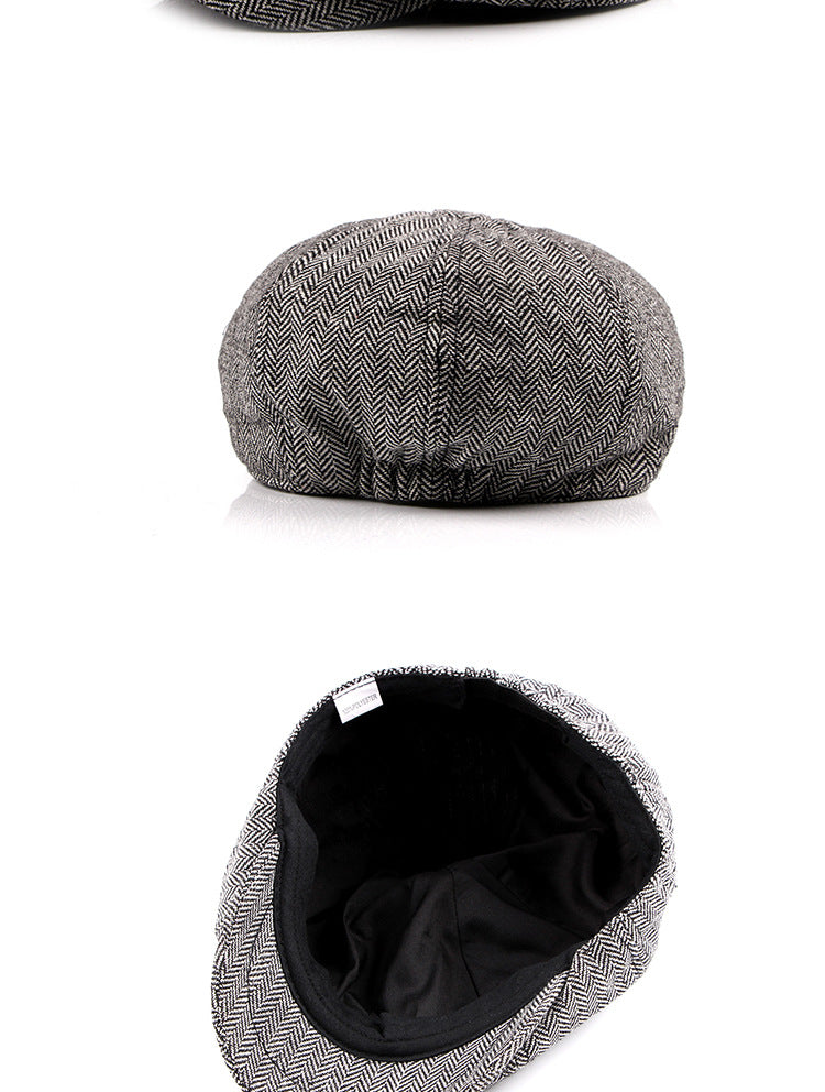 004130aa384e5 2019 new Tweed Gatsby Newsboy Cap Men autumn winter Hat for men Golf  Driving Flat cap
