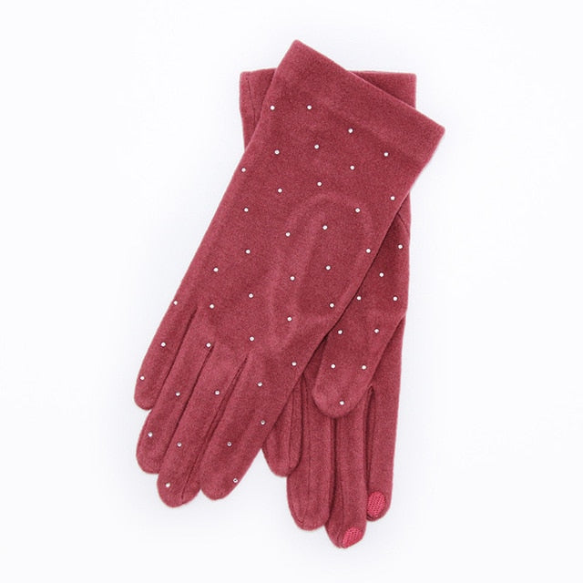 2019 Sweet Womens Mens Thermal Knitted Gloves Winter Thick Warm Full Finger Gloves Mittens Accessories