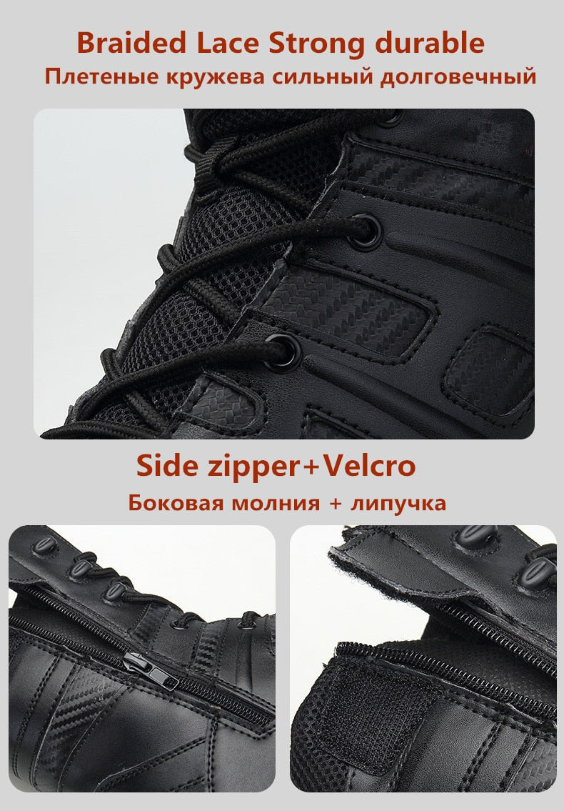 1aff88dfbeaaf Vancat Men High Quality Brand Military Leather Boots Special Force Tactical  Desert Combat Men's Boots Outdoor Shoes Ankle Boots