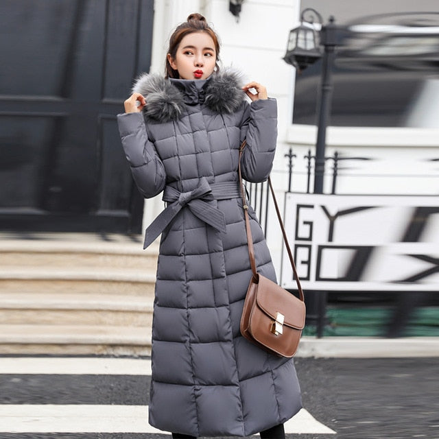 637f4ff57 2019 New Arrival European Style Winter Jacket Women Hooded With Fur Warm  Thicken Womens X-Long Coat 3XL Female Parka Parkas