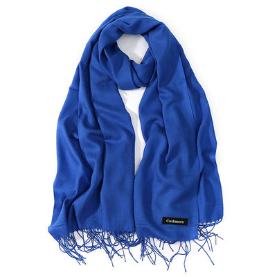 2018 New Luxury Brand Women Cashmere Solid Scarf Ladies Spring /Autumn Wool Pashmina Shawls and Wrap Female Foulard Hijab Stoles