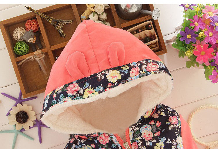 57110e7a0 Big Size Baby Girls Jackets 2019 Autumn Winter Jacket For Girls Winter  Minnie Coat Kids Clothes