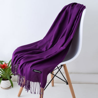 2019 classic spring/summer scarves for women thin shawls and wraps fashion solid female hijab stoles pashmina cashmere foulard