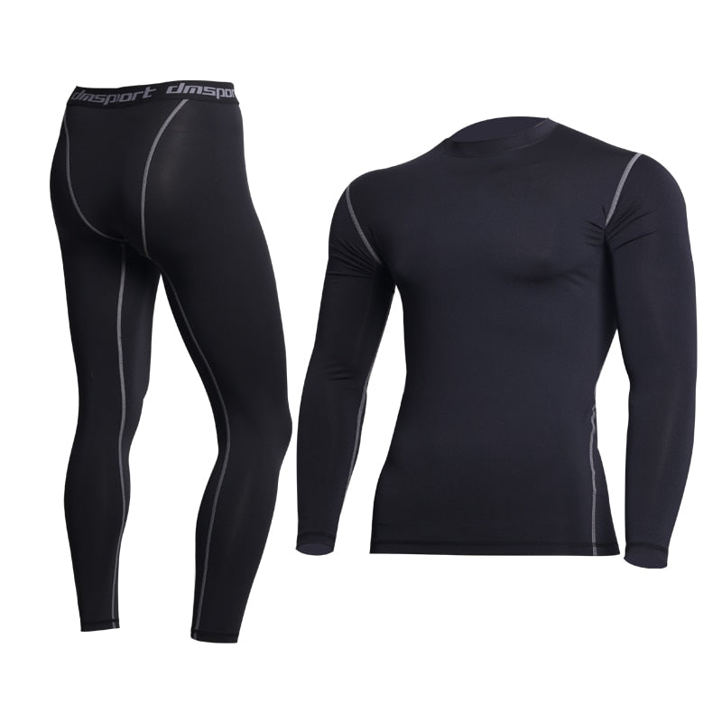 b364d1bb9eb6 2019 New Thermal Underwear Sets Thermo Long Johns Mens Winter Warm  Compression Quick Dry Pants Clothing