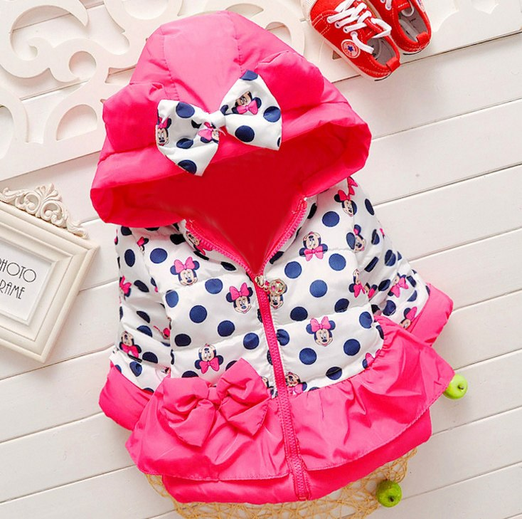 ec940bbf8 New Girls jackets fashion Minnie cartoon Clothing coat baby girl winter warm  and casual Outerwear for