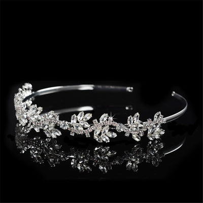 Hot Fashion Brand Bijoux Hair Jewelry for Brides Top Crystal Tiara Crowns for Women Wedding Party Engagement Hair Accessory F046
