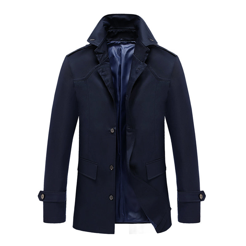 2018 New Autumn men Trench coat Casual Single Breasted Blazer Men jacket Fashion Solid Jacket Linen and Cotton long Coats