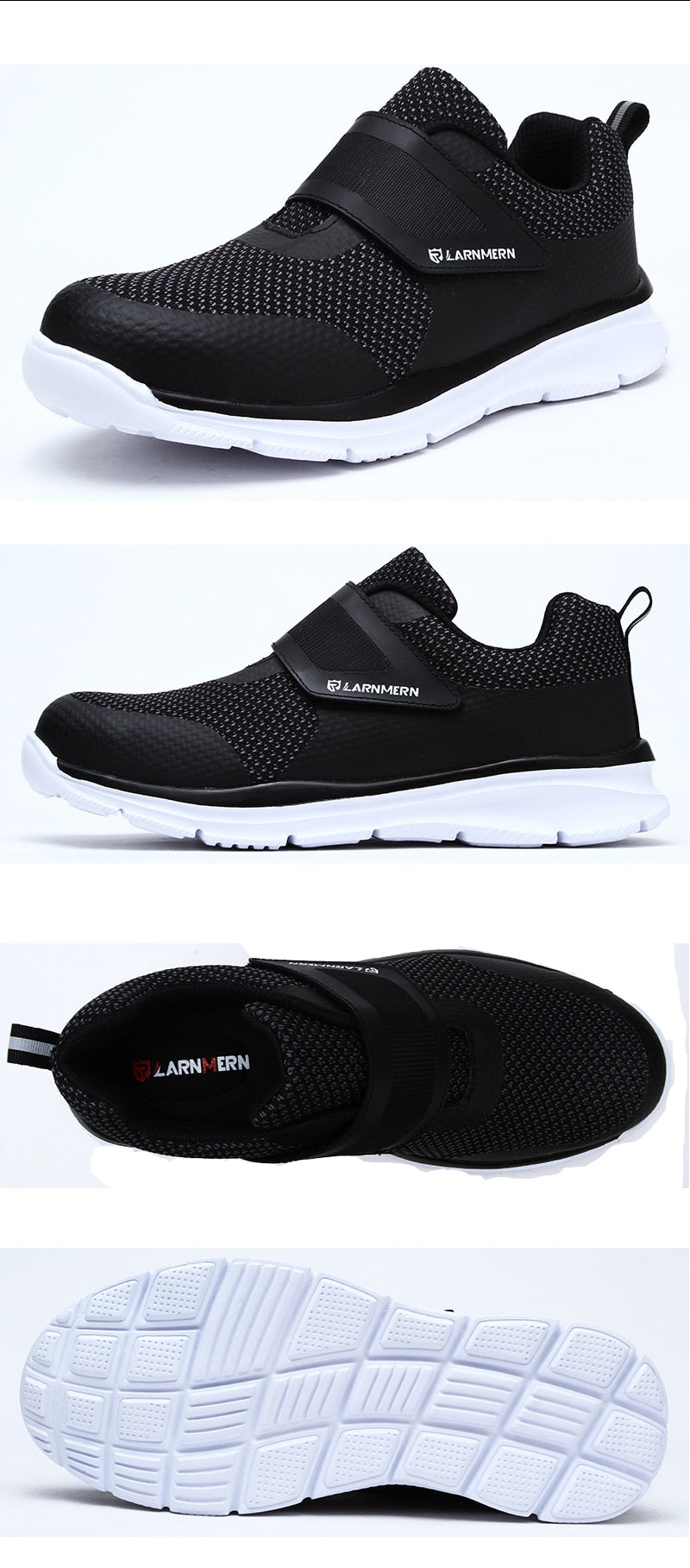 d4e8a1aebb9bad LARNMERN Men's Safety Shoes Steel Toe Construction Protective Footwear  Lightweight 3D Shockproof Work Sneaker Shoes For
