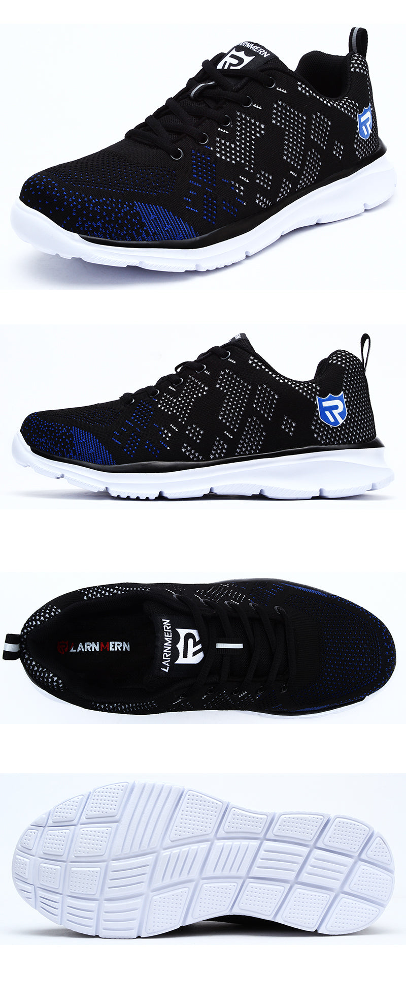 e76cf5e432c LARNMERN Lightweight Breathable Men Safety Shoes Steel Toe Work Shoes For  Men Anti-smashing Construction Sneaker With Reflective