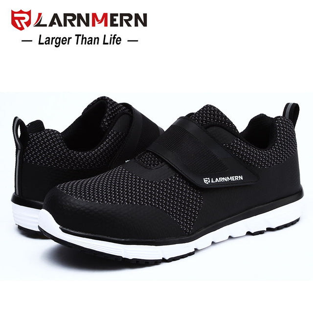 1a1abc29e48 LARNMERN Men's Safety Shoes Steel Toe Construction Protective Footwear  Lightweight 3D Shockproof Work Sneaker Shoes For Men