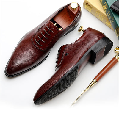 Men dress shoes Genuine cow leather brogue Wedding shoes mens casual flats shoes black burgundy oxford shoes for men spring