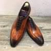 Sipriks Patina Leather Mens Dress Shoes 2019 Italian Oxfords Real Cow Leather Formal Tuxedo Shoes Gents Suits Dark Brown Euro 45
