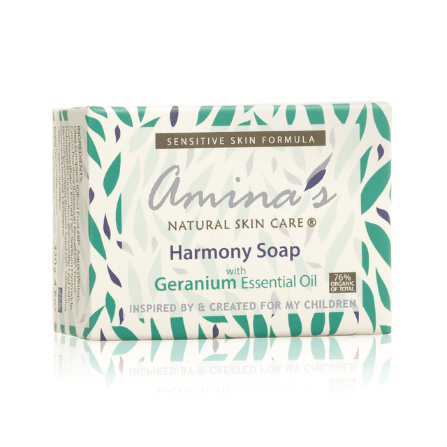 Amina's Harmony Soap With Geranium Scent